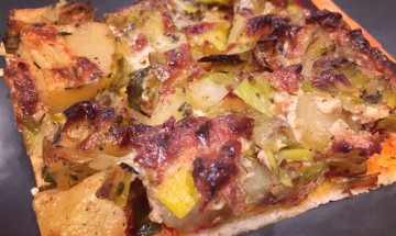 pizza poireaux pomme de terre