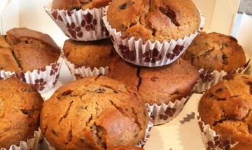 Muffins vanille pépites de chocolat cru