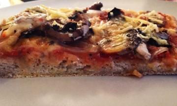 Pizza champignon sans gluten